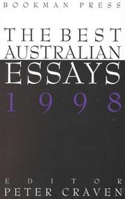 Cover of: The Best Australian Essays 1998
