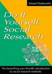 Cover of: Do it yourself social research