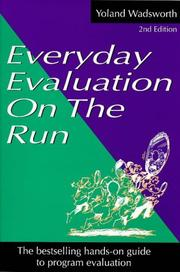 Cover of: Everyday evaluation on the run