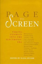 Cover of: Page to Screen