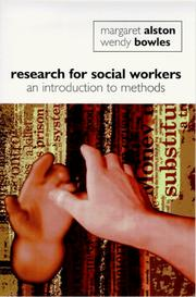 Cover of: Research for social workers