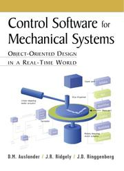 Cover of: Control software for mechanical systems