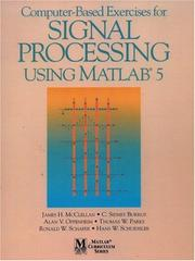 Cover of: Computer-based exercises for signal processing using MATLAB 5 |