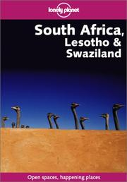 Cover of: Lonely Planet South Africa, Lesotho & Swaziland (Lonely Planet South Africa, Lesotho and Swaziland) | Simon Richmond