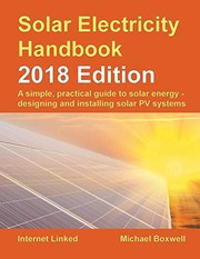 Cover of: Solar Electricity Handbook - 2018 Edition