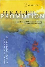 Cover of: Health promotion