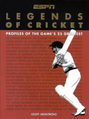 Cover of: Legends of Cricket (New Speciality Titles) | Geoff Armstrong