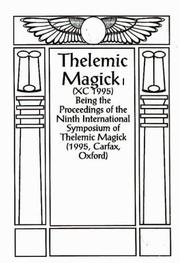 Cover of: Thelemic Magic XC, 1994