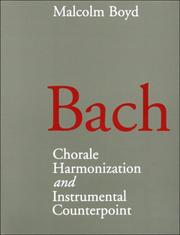 Cover of: Bach | Malcolm Boyd