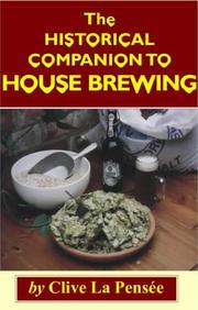 Cover of: Historical Companion to House Brewing