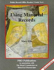 Cover of: Using manorial records