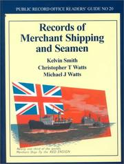 Cover of: Records of Merchant Ship and Seamen (Public Record Office Readers' Guide, No. 20)