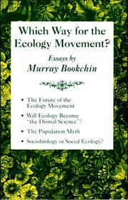 Cover of: Which way for the ecology movement?