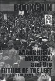 Cover of: Anarchism, Marxism and the Future of the Left