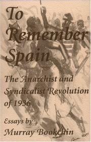 Cover of: To Remember Spain
