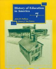 Cover of: History of education in America | John D. Pulliam