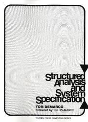 Cover of: Structured analysis and system specification