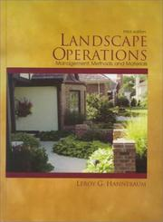 Cover of: Landscape operations
