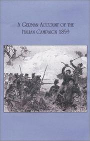 Cover of: German Account of the Italian Campaign - 1859