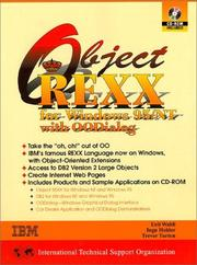 Cover of: Object REXX for Windows NT and Windows 95
