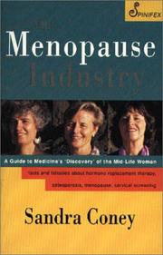 The Menopause Industry by Sandra Coney