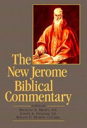 Cover of: The New Jerome biblical commentary by Raymond Edward Brown, Fitzmyer, Joseph A., Roland E. Murphy