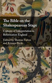 Cover of: The Bible on the Shakespearean Stage