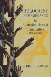 Cover of: Holocaust Remembrance in Australian Jewish Communities (Physics Reviews) | Judith E. Berman