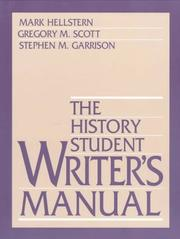 Cover of: The history student writer's manual