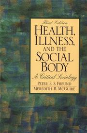 Cover of: Health, illness, and the social body
