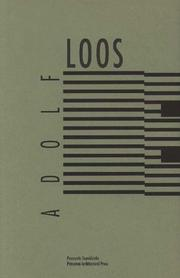 Cover of: Adolf Loos