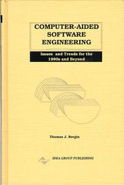 Cover of: Computer-Aided Software Engineering | Thomas Bergin