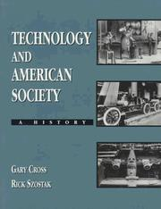 Cover of: Technology and American Society | Gary Cross