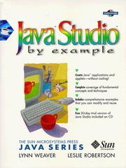 Cover of: Java Studio by example | Lynn Weaver