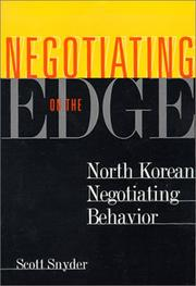 Cover of: Negotiating on the Edge