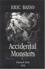 Cover of: Accidental Monsters | Eric Basso