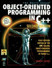 The Waite Group's object-oriented programming in C++ by Robert Lafore