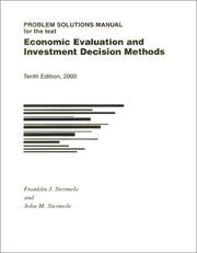 Economic evaluation and investment decision methods by Franklin J. Stermole