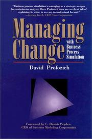 Cover of: Managing change with business process simulation