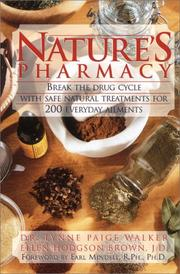 Cover of: Natures Pharmacy | Lynne Paige Walker