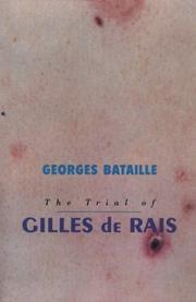 Cover of: Trial of Gilles De Rais | George Bataille