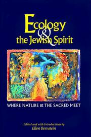 Cover of: Ecology & the Jewish Spirit | Ellen Bernstein
