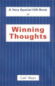 Cover of: Winning Thoughts  | Carl Mays
