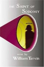 Cover of: The saint of sodomy and other works