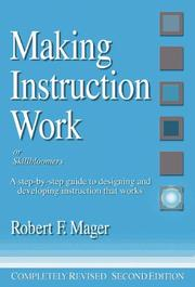 Cover of: Making instruction work, or, Skillbloomers