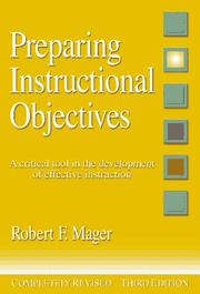 Cover of: Preparing instructional objectives