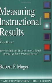 Cover of: Measuring instructional results, or, Got a match?