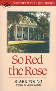 Cover of: So Red the Rose