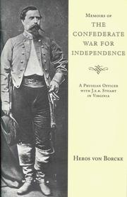 Cover of: Memoirs of the Confederate war for independence