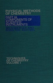 Cover of: Physical methods of chemistry
